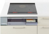 パナソニック製(Panasonic)LESLH6SK 2口IH+ラジエント 鉄・ステンレス対応 ▽IHクッキングヒーター