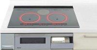 パナソニック製(Panasonic)LESW173SK 2口IH+ラジエント 鉄・ステンレス対応 ▽IHクッキングヒーター