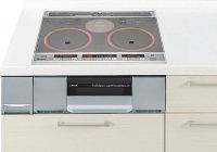 パナソニック製(Panasonic)LESG32ESTK 2口IH+ラジエント 鉄・ステンレス対応 ▽IHクッキングヒーター