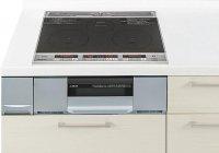 パナソニック製(Panasonic)LESG32AS 2口IH+ラジエント 鉄・ステンレス対応 ▽IHクッキングヒーター