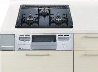 ハーマン製(Panasonic)LESG32Q1V シルバー 3口コンロ・ホーロートップタイプ ●ガスコンロ