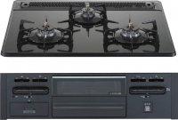 ハーマン製(永大産業)DG-32N3VS-★ 3口コンロ ガラストップタイプ ●ガスコンロ
