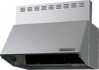 富士工業製(Panasonic)LES73AH2F2 間口75cm シルバー 壁付けタイプ ブーツ型シロッコファン ★レンジフード 上幕板付き ※納期約2週間