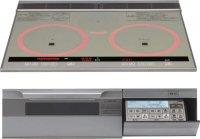 パナソニック製(永大産業)JS-CH-MRS6V 3口IH・シングルオールメタル ▽IHクッキングヒーター