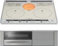 日立製(永大産業)JS-HT-H60SS 2口IH+ラジエント 鉄・ステンレス対応 ▽IHクッキングヒーター