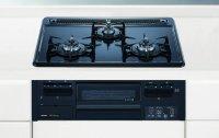ノーリツ製(NORITZ)N3GQ2RWTQ1 メタルトップシリーズ 3口コンロ ●ガスコンロ