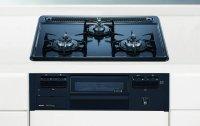 ノーリツ製(NORITZ)N3GQ2RVQ1 メタルトップシリーズ 3口コンロ ●ガスコンロ