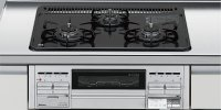 パロマ製(LIXIL)P3634A0WHV 3口コンロ・ホーロートップタイプ ●ガスコンロ