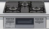 リンナイ製(LIXIL)R1633A0R1VK 3口コンロ・ガラストップタイプ ●ガスコンロ