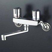 KVK製(KVK)KM140GMR2 240mmパイプ付 2ハンドル混合栓 ◎キッチン水栓 一般地用