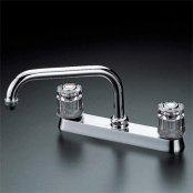KVK製(KVK)KM8G 流し台用2ハンドル混合栓 ◎キッチン水栓 一般地用