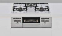 リンナイ製(Rinnai)RS31W28P12RVW SENCE(センス)パールクリスタル ライトグレー ●ガスコンロ