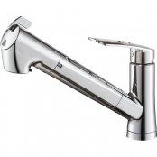 三栄水栓製(SANEI)K87128EJV-13 シングル浄水器付ワンホールスプレー混合栓 ▼浄水器 一般地用