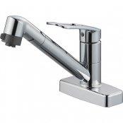三栄水栓製(SANEI)K7711MEV-13 シングル台付切替シャワー混合栓 ◎キッチン水栓 一般地用