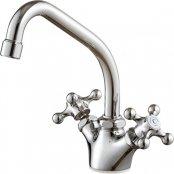 三栄水栓製(SANEI)K811YV-13 ツーバルブワンホール混合栓(先止) ◎キッチン水栓 一般地用