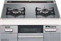 ノーリツ製(NORITZ)N2WQ8RWTS6SI Fami(ファミ 2口タイプ) 2口コンロ ガラストップタイプ ●ガスコンロ
