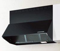 富士工業製(NORITZ)NBDR-3HL-751 間口75cm ブラック ブーツ型シロッコファン ★レンジフード 上幕板付き ※納期2週間