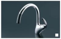 TOTO製(Housetec) TKN34PBRR グースネック・シングルレバーシャワー水栓(ホース付) ◎キッチン水栓 一般地用