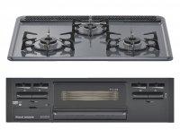 リンナイ製(Housetec) RB32AM4H2S-BW 水無し片面焼きホーロートップ ●ガスコンロ 3口コンロ