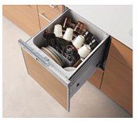 リンナイ製(TOTO) KEMW045QRSPXXXB 食器洗い乾燥機R シルバー 〇食洗機