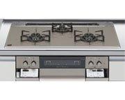 ハーマン製(LIXIL)H3735F1W2T 3口コンロ・ガラストップタイプ ●ガスコンロ