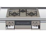 ハーマン製(LIXIL)H3635F1W2T 3口コンロ・ガラストップタイプ ●ガスコンロ