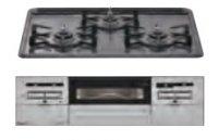 リンナイ製(Housetec)  RB31AW28H2RVW 水無し両面焼きホーロートップ 3口コンロ ●ガスコンロ