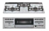 リンナイ製(Housetec)  RB31AM5P3RVW 水無し片面焼きパールクリスタルトップ 3口コンロ ●ガスコンロ