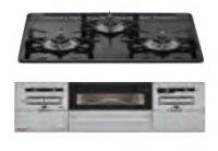 リンナイ製(Housetec)  RB31AW28U32RVW 水無し両面焼きガラストップ 3口コンロ ●ガスコンロ