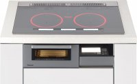 パナソニック製(Panasonic)KZ-XG57S シルバー 3口IH・シングル(右IH)ハイスピードオールメタル対応 ▽IHクッキングヒーター