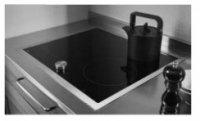 ガゲナウ製(WOODONE)UDIG001-6N-NK ブラック グリルレス2口+フリーゾーンIH 鉄・ステンレス対応 ▽IHクッキングヒーター