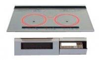 パナソニック製(WOODONE)UDIP001-7N-VV シルバー 3口IH シングルオールメタル ▽IHクッキングヒーター
