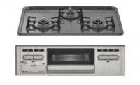 リンナイ製(WOODONE)UDGR009-6N-VG グリル付きガス加熱機器 ホーロートップ  水無し片面焼グリル ●ガスコンロ