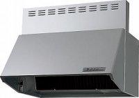 富士工業製(Panasonic)LES73AH1F2 間口60cm シルバー 壁付けタイプ ブーツ型シロッコファン ★レンジフード 上幕板付き ※納期約2週間