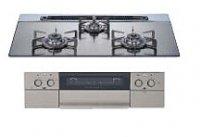 ハーマン製(TOCLAS)S309WASKTE シルバーミラー ガラストップ3口コンロ ●ガスコンロ