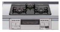 パロマ製(LIXIL)P3634B0WHV 3口コンロ・ホーロートップタイプ ●ガスコンロ