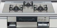 ハーマン製(LIXIL)H3735G1W2T  3口コンロ・ガラストップ・スタイリッシュタイプ 無水両面焼グリル  トップ間口75cm ●ガスコンロ  ※納期約2週間