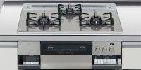 ハーマン製(LIXIL)H3635G1W2T  3口コンロ・ガラストップ・スタイリッシュタイプ 無水両面焼グリル  トップ間口60cm ●ガスコンロ  ※納期約2週間