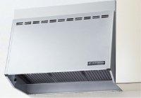 富士工業製(LIXIL)  NBH-9197SI 間口90cm シルバー 壁付用(I型・L型・センターキッチンL型) NBHプロペラファンタイプ(奥行65・60cm共用)★レンジフード 上幕板付き