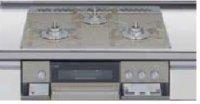 リンナイ製(LIXIL)R3636E1W8S   3口コンロ・ガラストップ・スタイリッシュタイプ 無水両面焼グリル  トップ間口60cm ●ガスコンロ  ※納期約2週間