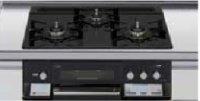 リンナイ製(LIXIL)R3636E1W1K   3口コンロ・ガラストップ・スタイリッシュタイプ 無水両面焼グリル  トップ間口60cm ●ガスコンロ  ※納期約2週間