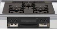 リンナイ製(LIXIL)R3735B1W1K   3口コンロ・ガラストップ 無水両面焼グリル  トップ間口75cm ●ガスコンロ  ※納期約2週間
