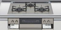 ハーマン製(LIXIL)H3635H1W2T   3口コンロ・ガラストップタイプ 無水両面焼グリル  トップ間口60cm ●ガスコンロ