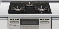 リンナイ製(LIXIL)R1633C0W1V 3口コンロ・ガラストップタイプ トップ間口60cm ●ガスコンロ