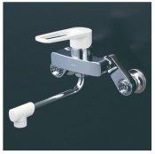 KVK製(KVK)MSK110KRK シングル混合栓(楽付王) 170�パイプ付 ◎キッチン水栓 一般地用