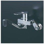 KVK製(KVK)MSK110KERFKT シングルシャワー付混合栓(楽付王)eレバー 200�パイプ付 ◎キッチン水栓 一般地用