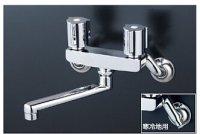 KVK製(KVK)KM140ZEXNR2 2ハンドル混合栓(240mmパイプ付) ◎キッチン水栓 一般地用