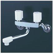 KVK製(KVK)KM2G3N 2ハンドル混合栓(150mmパイプ付) ◎キッチン水栓 一般地用