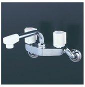 KVK製(KVK)KM4G3N 2ハンドル混合栓(150mmパイプ付) ◎キッチン水栓 一般地用