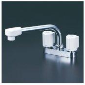 KVK製(KVK)KM17GN 2ハンドル混合栓(202mmパイプ付) ◎キッチン水栓 一般地用